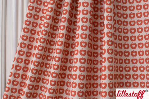 Lillestoff Bio-Jersey: Apple Liefde orange - 160 cm kaufen im Makerist Materialshop