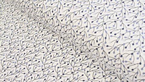 Baumwolljersey weiß: Avalana Beeren - 162 cm kaufen im Makerist Materialshop