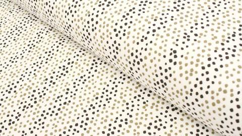 Baumwolljersey wollweiß: Avalana Pünktchenstreifen - 160 cm kaufen im Makerist Materialshop