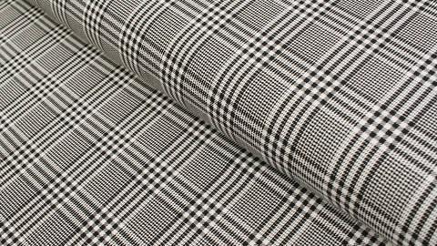 Baumwolljersey schwarz-weiß: Avalana Karomuster  - 162 cm kaufen im Makerist Materialshop