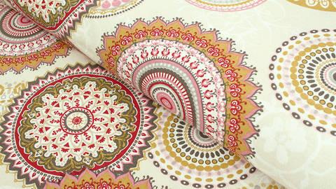 Baumwoll-Mischgewebestoff beige: Mandala - 140 cm kaufen im Makerist Materialshop