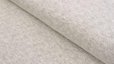 Baumwoll-Strickstoff grau meliert: Pointoille - 140 cm kaufen im Makerist Materialshop