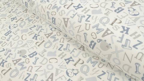 Baumwolljersey weiß: Avalana Buchstaben - 162 cm kaufen im Makerist Materialshop