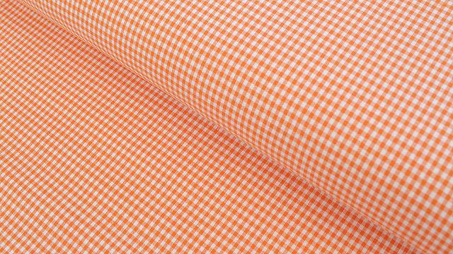 Baumwollstoff orange kariert: Vichy - 140 cm im Makerist Materialshop - Bild 1