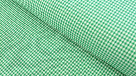 Baumwollstoff grün kariert: Vichy - 140 cm kaufen im Makerist Materialshop