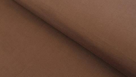 Baumwollstoff braun uni - 150 cm kaufen im Makerist Materialshop