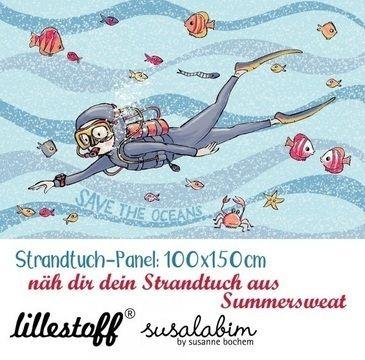 Lillestoff Rapport Bio-Summersweat: Strandtuch - 150 cm - Stoffe kaufen im Makerist Materialshop