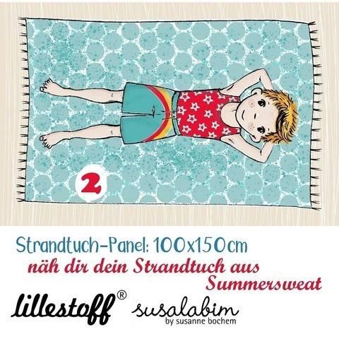Lillestoff Rapport Bio-Summersweat: Strandtuch Junge 2 - 150 cm im Makerist Materialshop