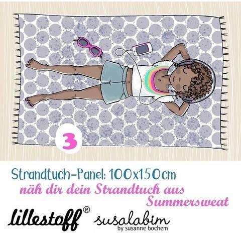 Lillestoff Rapport Bio-Summersweat: Strandtuch Mädchen 3 - 150 cm kaufen im Makerist Materialshop