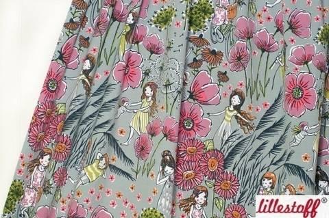 Lillestoff Bio-Jersey grau: Sommerträume - 160 cm kaufen im Makerist Materialshop