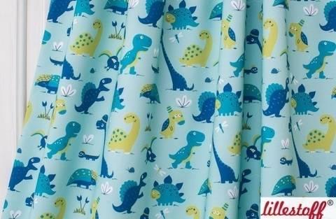 Lillestoff Bio-Jersey: Dinosaurrrr Blue - 160 cm kaufen im Makerist Materialshop