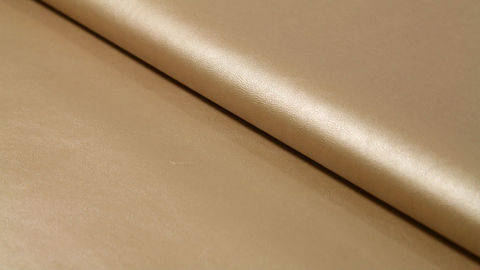 Goldenes Kunstleder: Alloway - 137 cm kaufen im Makerist Materialshop