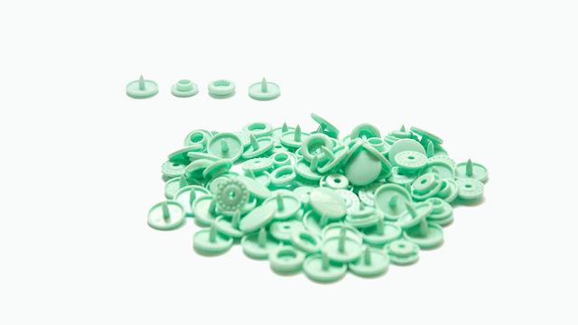 Druckknöpfe KAM Snaps T5 glänzend von Snaply 25 Stk. - B19 minze - Kurzwaren und Zubehör kaufen im Makerist Materialshop