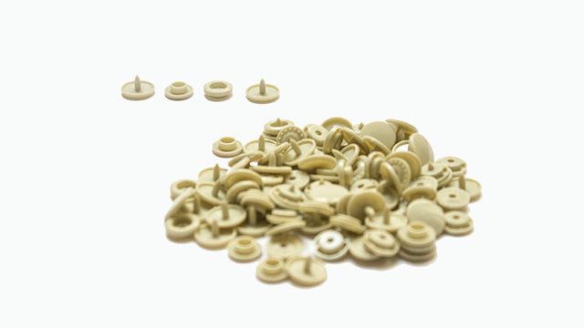 Druckknöpfe KAM Snaps T5 glänzend von Snaply 25 Stk. - B23 beige - Kurzwaren und Zubehör kaufen im Makerist Materialshop