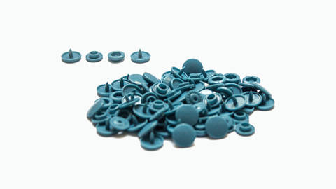 Druckknöpfe KAM Snaps T5 glänzend von Snaply 25 Stk. - B27 mittelblau kaufen im Makerist Materialshop