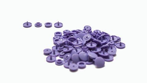Druckknöpfe KAM Snaps T5 glänzend von Snaply 25 Stk. - B28 lila kaufen im Makerist Materialshop