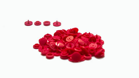Druckknöpfe KAM Snaps T5 glänzend von Snaply 25 Stk. - B33 dunkelpink kaufen im Makerist Materialshop