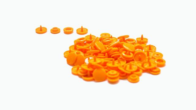 Druckknöpfe KAM Snaps T5 glänzend von Snaply 25 Stk. - B40 orange - Kurzwaren und Zubehör kaufen im Makerist Materialshop