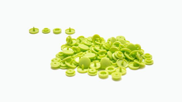 Druckknöpfe KAM Snaps T5 glänzend von Snaply 25 Stk. - B44 apfelgrün - Kurzwaren und Zubehör kaufen im Makerist Materialshop