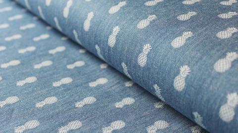 Blauer Jeansstoff:  Jeans Pineapple - 140cm kaufen im Makerist Materialshop