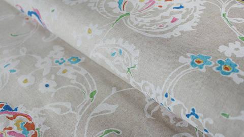 Grauer Floral-Druck Dekostoff: Verifa - 280 cm kaufen im Makerist Materialshop