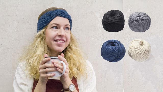 Stirnband Strickset von Masaki - Materialsets kaufen im Makerist Materialshop