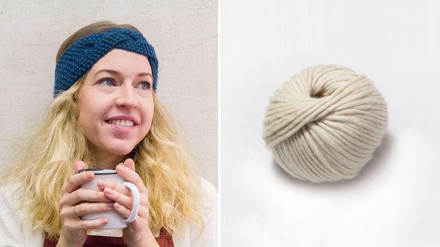 Stirnband Masaki - beige - Materialsets kaufen im Makerist Materialshop