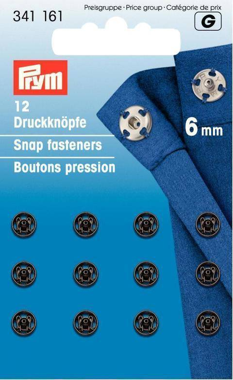 Annäh-Druckknöpfe - schwarz - von Prym kaufen im Makerist Materialshop
