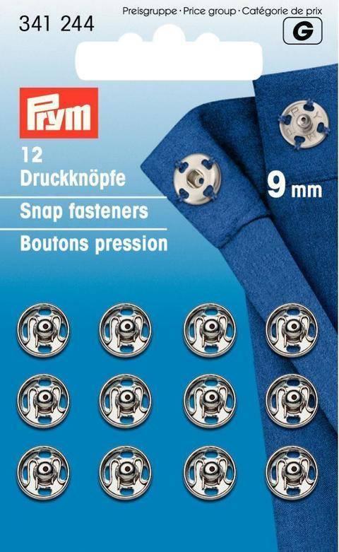 Annäh-Druckknöpfe - silberfarbig - von Prym kaufen im Makerist Materialshop