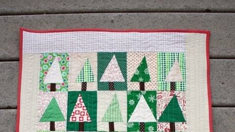 quilt n hset wald patchwork quilttop wandbehang im makerist materialshop. Black Bedroom Furniture Sets. Home Design Ideas