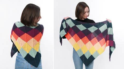 Dreieckstuch Do-Mino-Tuch Strickset von WoolAffair kaufen im Makerist Materialshop