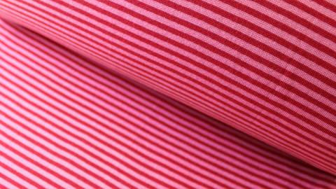 Hamburger Liebe Rippbündchen: Ringelbündchen rosa-rot - 75 cm kaufen im Makerist Materialshop