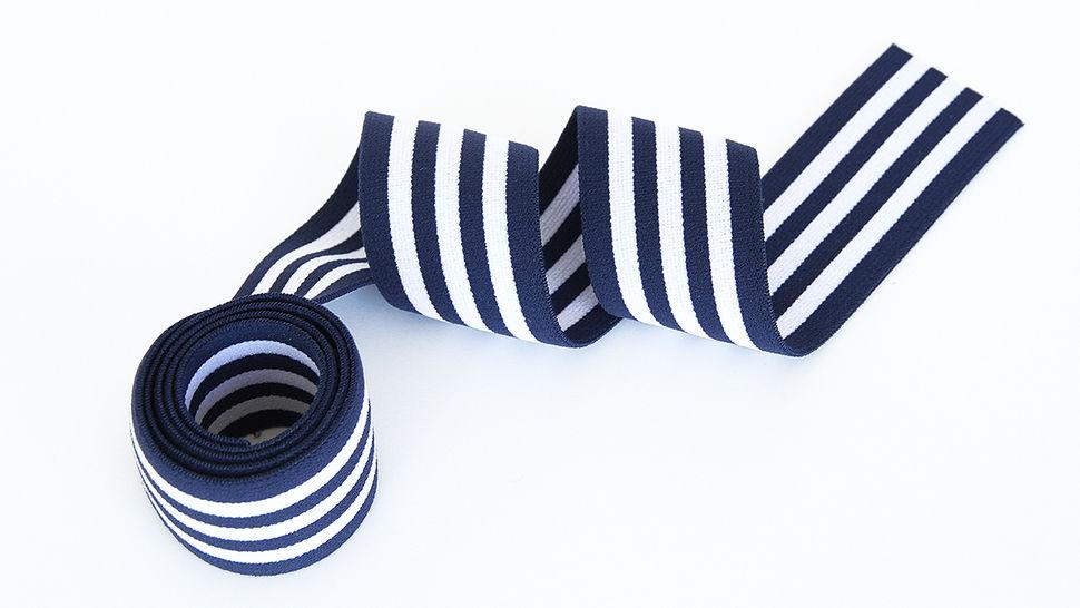 Elastisches Streifenband blau-weiß 1 kaufen im Makerist Materialshop