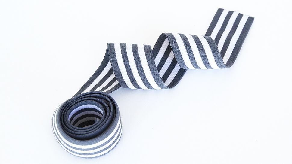 Elastisches Streifenband grau-weiß 1 kaufen im Makerist Materialshop