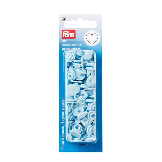 NF Druckknöpfe Color Snaps Herz hellblau 30 Stück kaufen im Makerist Materialshop