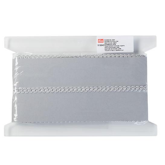 Brokatborte (Wellenmotiv) 10 mm silber kaufen im Makerist Materialshop