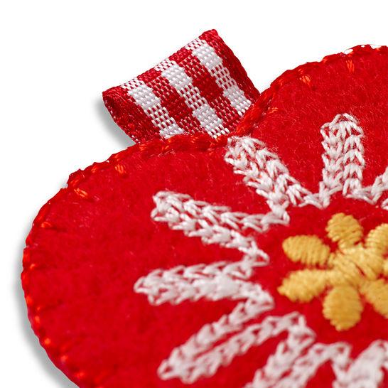 Applikation Herz Landhausstil rot kaufen im Makerist Materialshop
