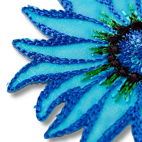 Applikation Exklusiv Blume blau/bleu kaufen im Makerist Materialshop