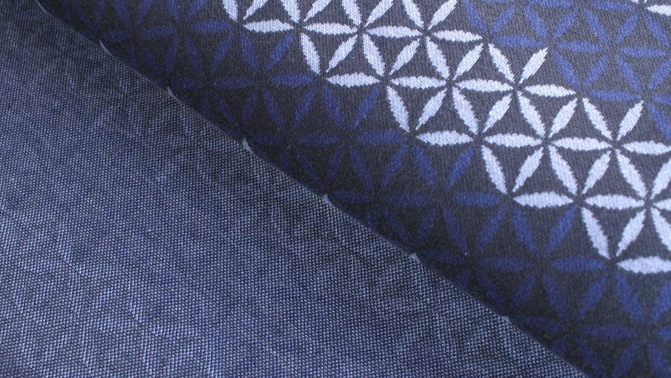 Jacquardstoff dunkelblau: Avalana Eisblumen - 160 cm im Makerist Materialshop - Bild 2