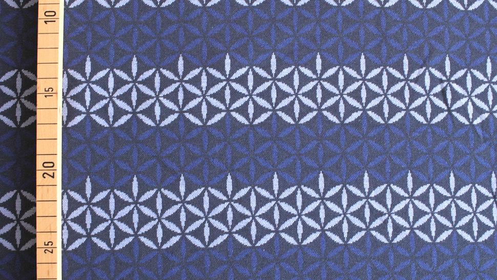 Jacquardstoff dunkelblau: Avalana Eisblumen - 160 cm im Makerist Materialshop - Bild 3