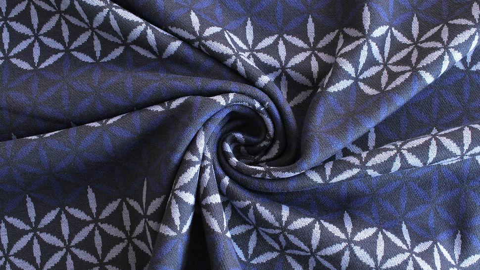 Jacquardstoff dunkelblau: Avalana Eisblumen - 160 cm im Makerist Materialshop - Bild 4