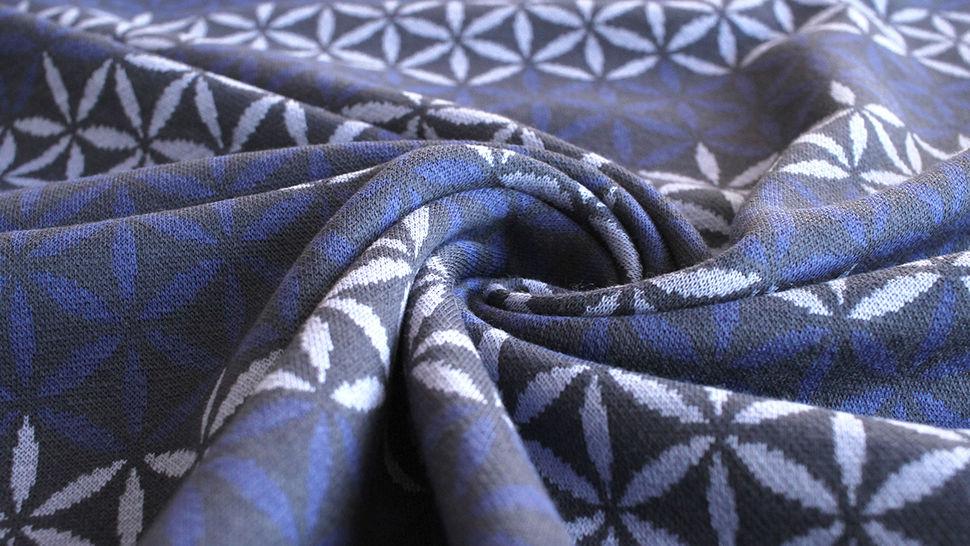 Jacquardstoff dunkelblau: Avalana Eisblumen - 160 cm im Makerist Materialshop - Bild 5