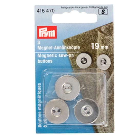 Magnet-Annähknöpfe 19 mm silberfarbig kaufen im Makerist Materialshop