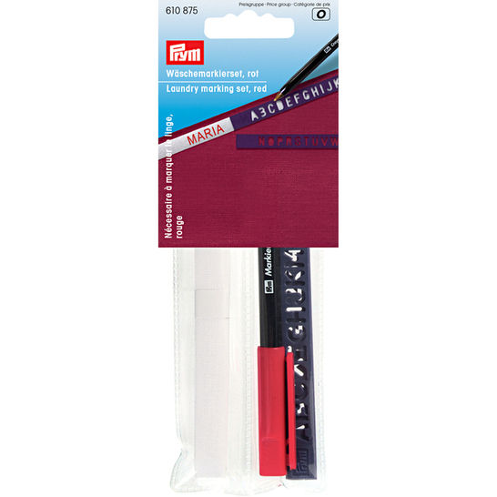 Wäschemarkierset Standard, roter Stift kaufen im Makerist Materialshop