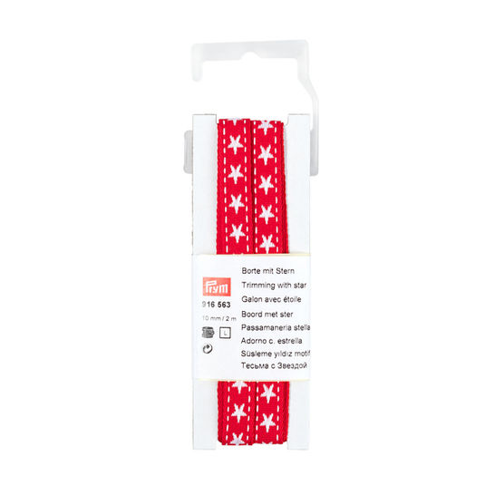 Borte mit Stern 10 mm rot/weiß kaufen im Makerist Materialshop