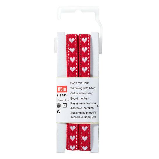 Borte mit Herz 10 mm rot/weiß kaufen im Makerist Materialshop