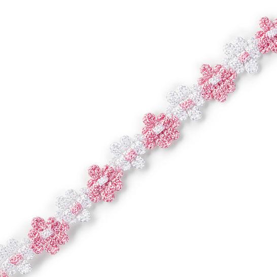 Blumenborte 15 mm rose/weiß kaufen im Makerist Materialshop