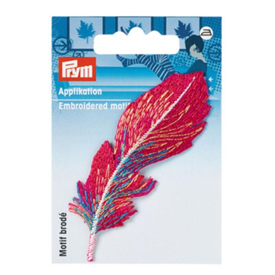 Applikation Feder rot/bunt kaufen im Makerist Materialshop