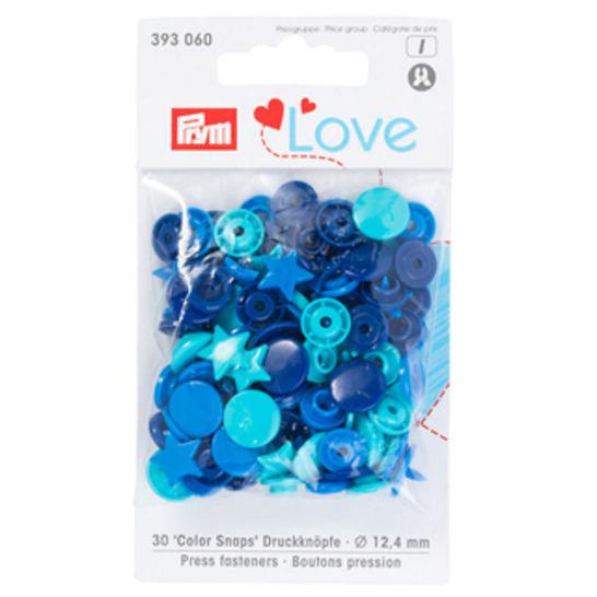Prym Love Druckknopf Color Stern 12,4 mm blau/türkis/tinte kaufen im Makerist Materialshop