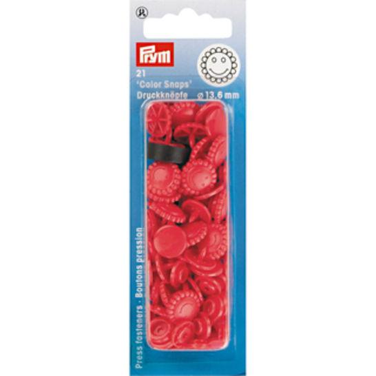 NF Druckknöpfe Color Snaps Blume 13,6 mm rot 21 Stück kaufen im Makerist Materialshop